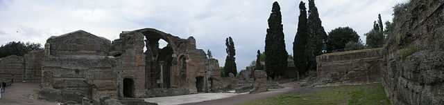 This photo shows the ruins of the domes that once housed the Great Baths at Hadrian's villa.
