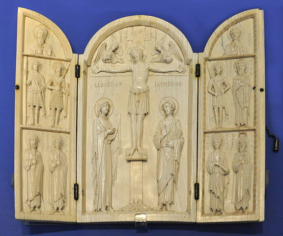 This is a photo of the Borradaile Triptych.