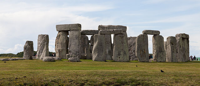 Photograph depicts Stonehenge.