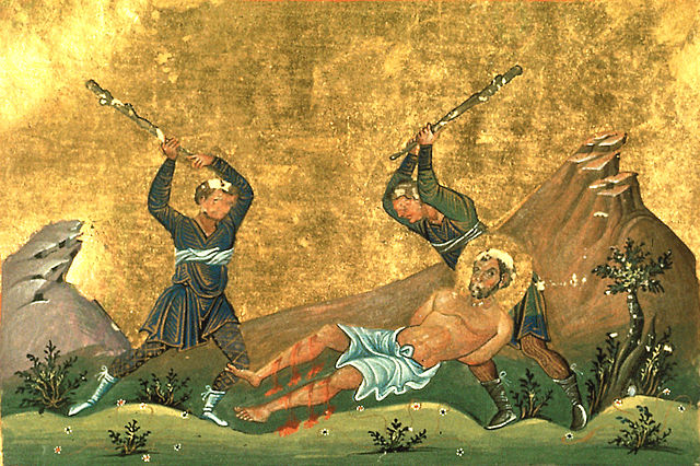 This photo shows The Death of St. Onesimus.