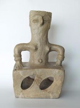Photo depicts ceramic female figurine.