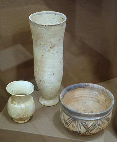 Photograph depicting the assortment of pottery described above.