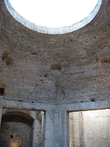 This is a photo of the ruins of the Domus Aurea.