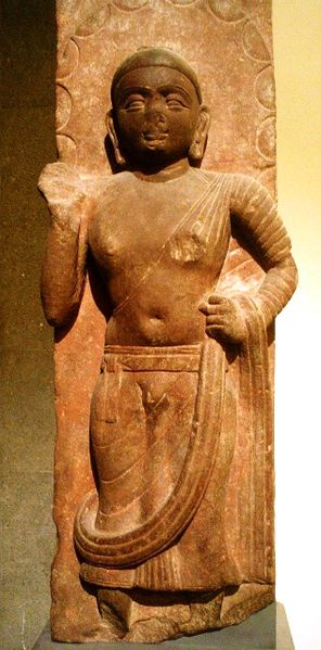 This is a photo of the Mathura Buddha.