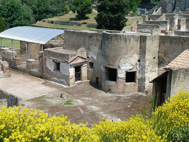 This is a current-day photo of the Suburban Baths. Built against the city walls, this structure served as a public bath house for the residents of Pompeii.