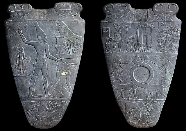 Both sides of the Palette of Narmer