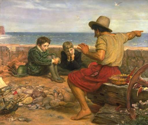 The Boyhood of Raleigh by Sir John Everett Millais, oil on canvas, 1870..