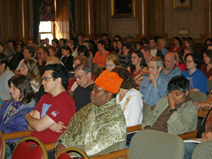 A picture of an audience at the Brooklyn Book Festival in New York City.