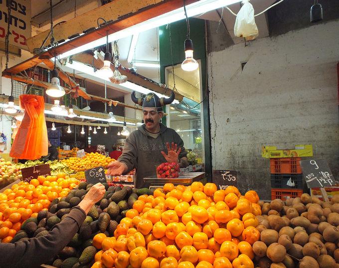 A fruit market in Israel.