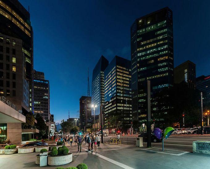 Paulista Avenue in Sao Paulo, Brazil.