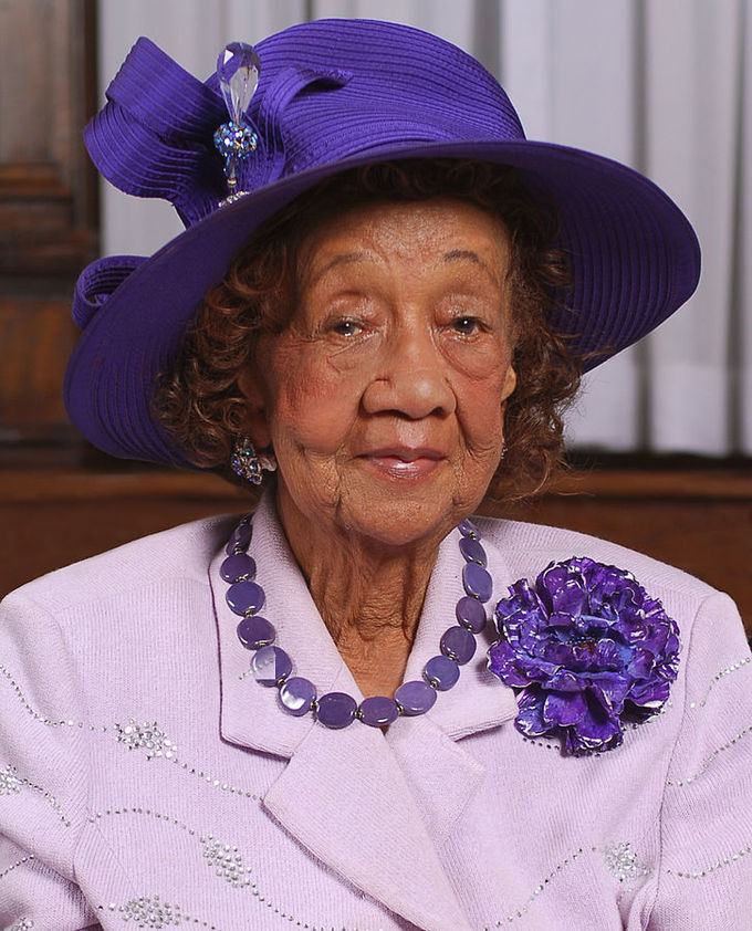 Portrait of Dr. Dorothy Height taken in June 2008