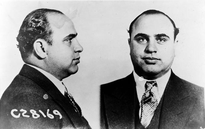 Mug shot of Al Capone