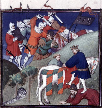 In this 15th-century French miniature depicting the Battle of Manzikert, the combatants are clad in contemporary Western European armour.