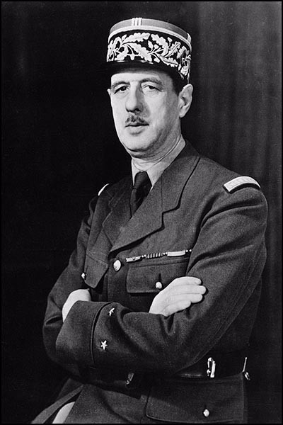 Photo portrait of Charles de Gaulle