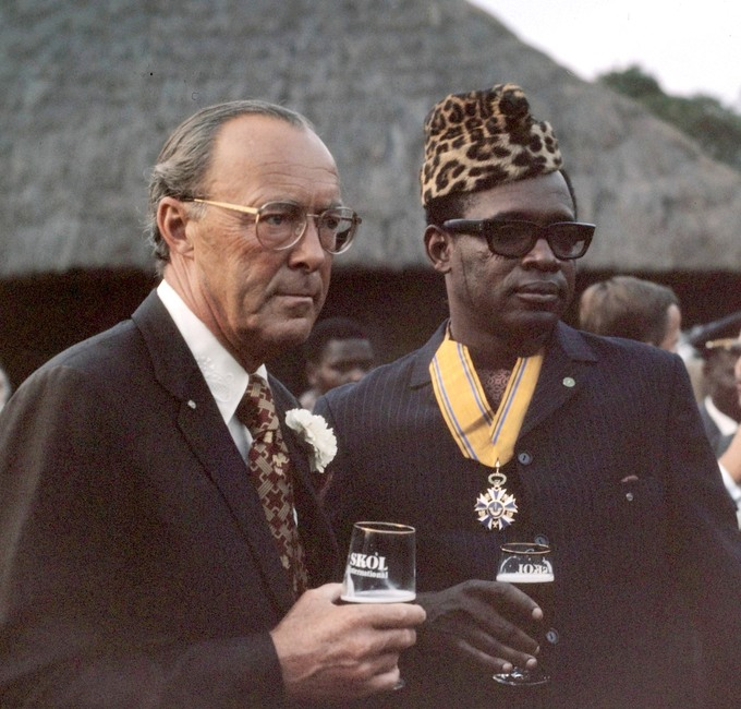 Mobutu Sese Seko with the Dutch Prince Bernhard in 1973.
