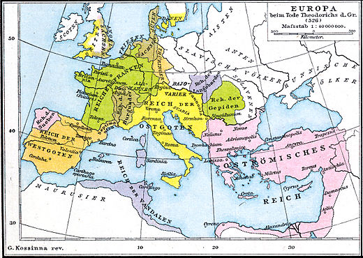 The Ostrogothic Kingdom covered all of Italy well as neighboring areas, including land in modern-day France, Germany, Switzerland, Slovenia, Bosnia and Herzegovina, Serbia, Hungary, Czech Republic, Slovakia, Croatia, Montenegro, Austria, San Marino, Vatican City, Liechtenstein, and Monaco.