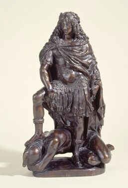 Statue of Louis XIV crushing the Fronde revolt
