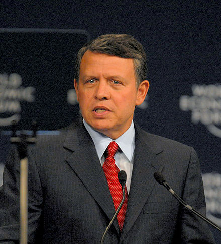 Close-up photo of King Abdullah of Jordan.