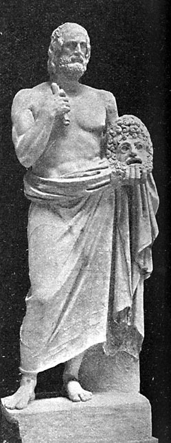 Statue of Euripides