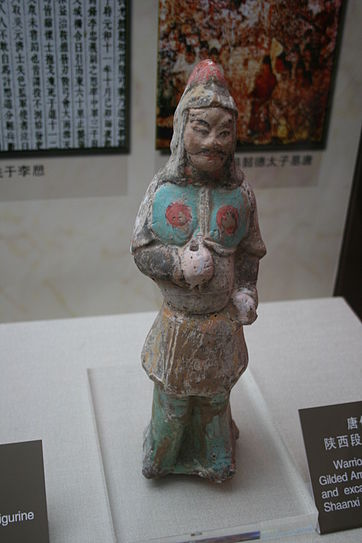 An image of a statue of a Tang period warrior.