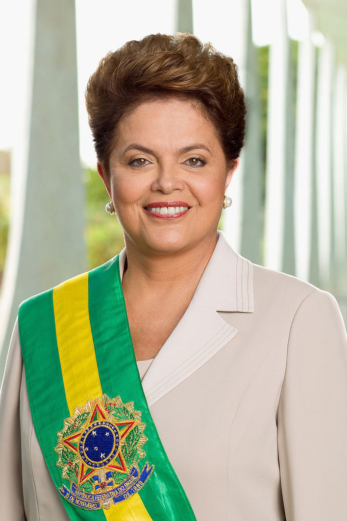 Photo of President Dilma Rousseff (2011-2016).