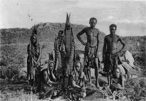 Photograph of seven members of a Herero family