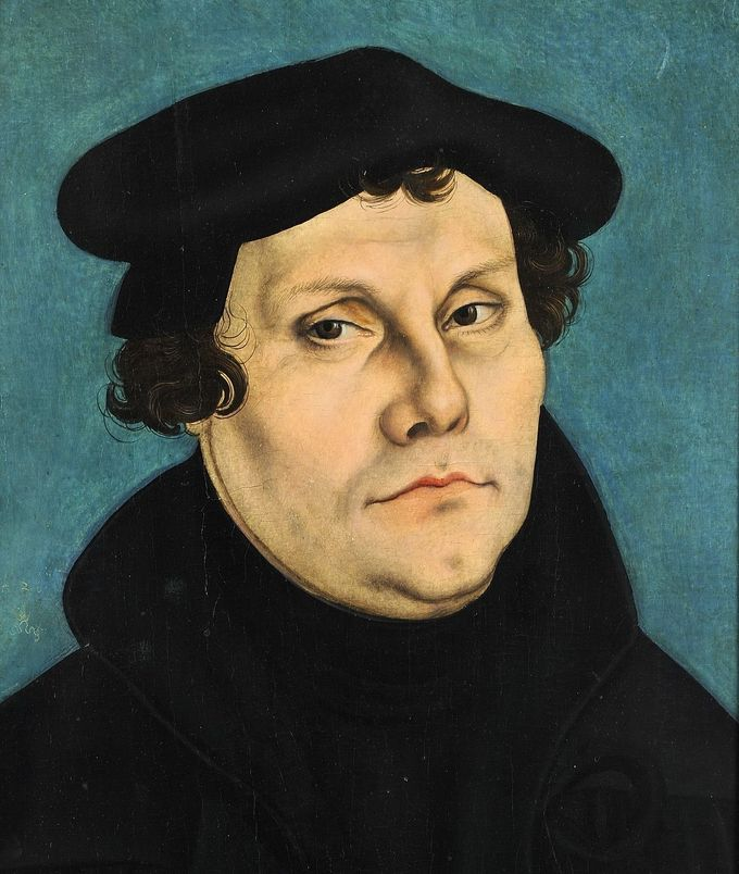 Portrait of Martin Luther's face.