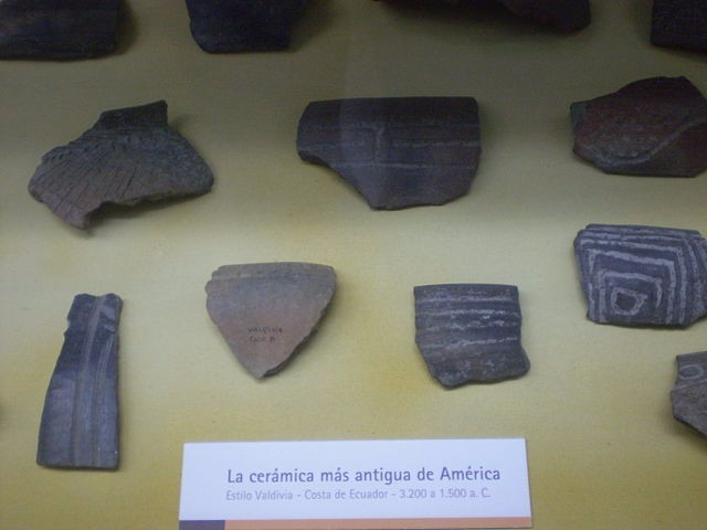 The photograph shows 13 fragments of pottery.