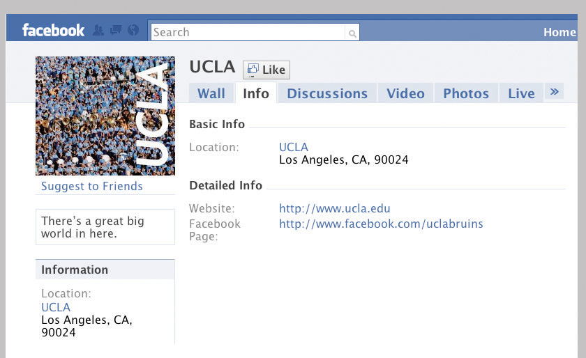 UCLA Facebook page
