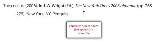 Capitalize proper nouns that appear in a book title.