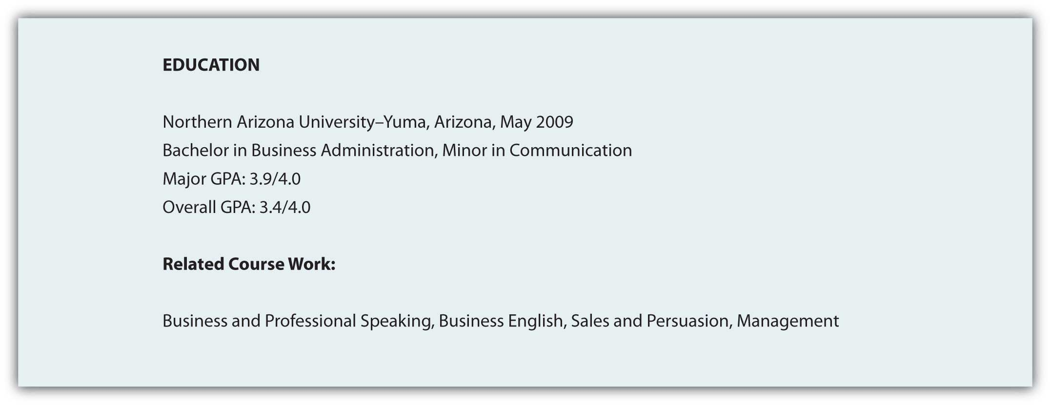 Education  Resume On Cardstock