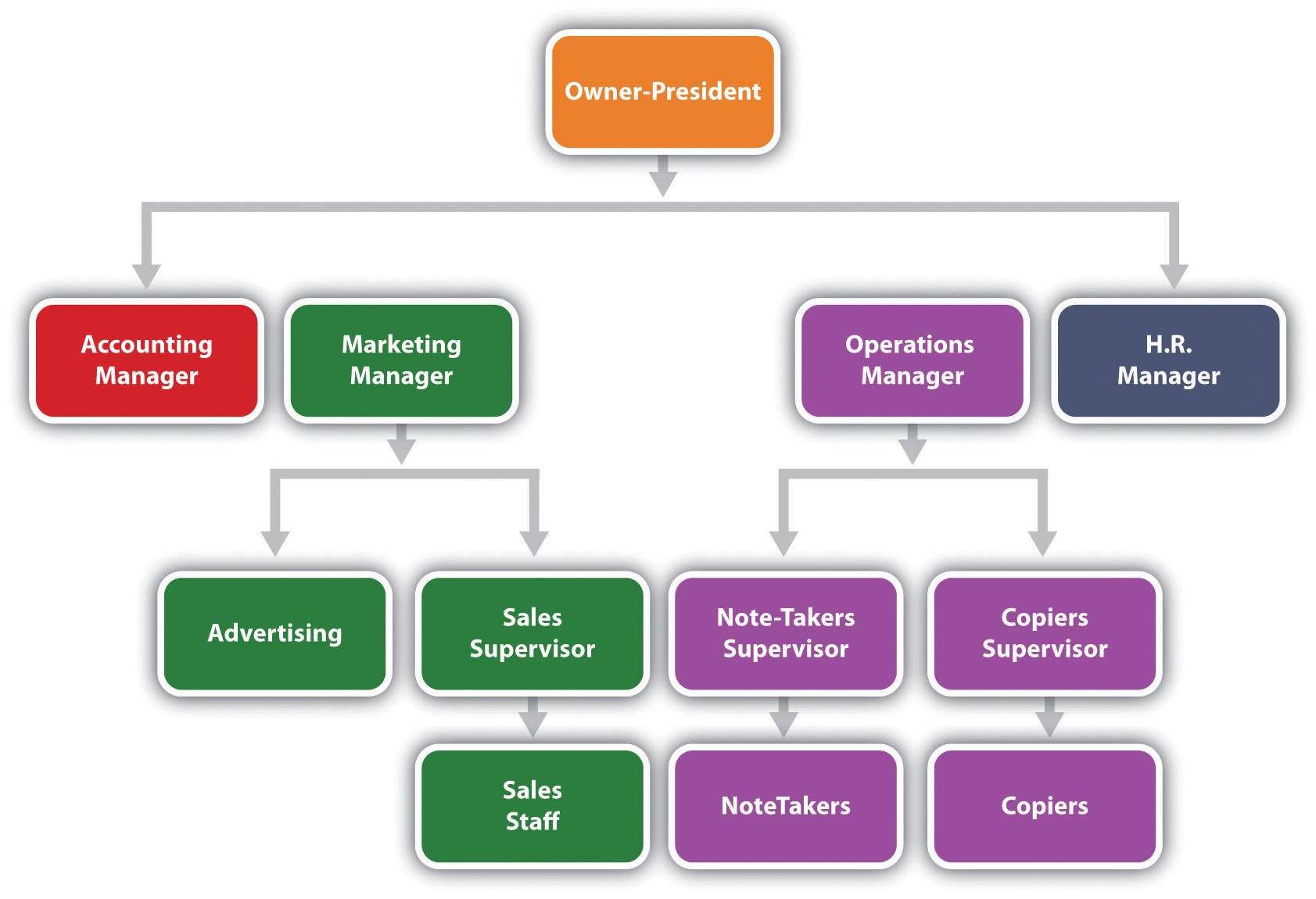 Reading The Organization Chart and Reporting Structure – Business Organizational Chart