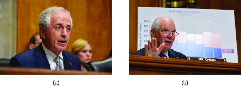 Image A is of Bob Corker. Image B is of John Kerry.