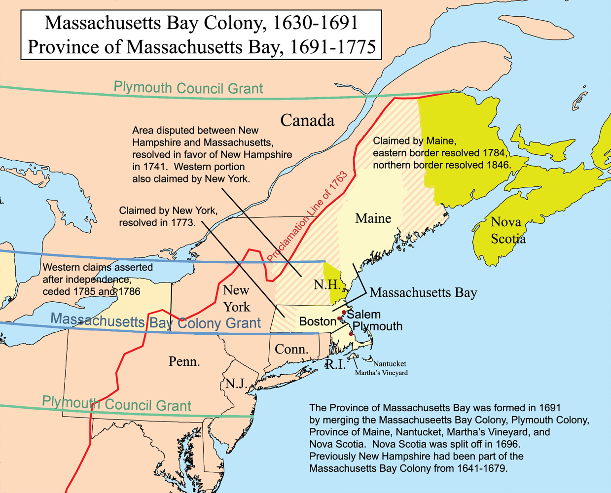 The Establishment Of The New England Colonies Us History I 13 Colonies Map New York